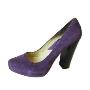 MICHAEL Michael Kors Purple Suede Heels Size 8M
